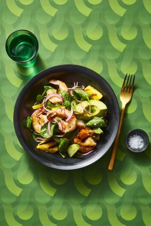 Charred Shrimp and Avocado Salad - Healthy Lunch Ideas