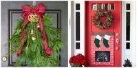 18 DIY Christmas Door Decorations - Holiday Door ...