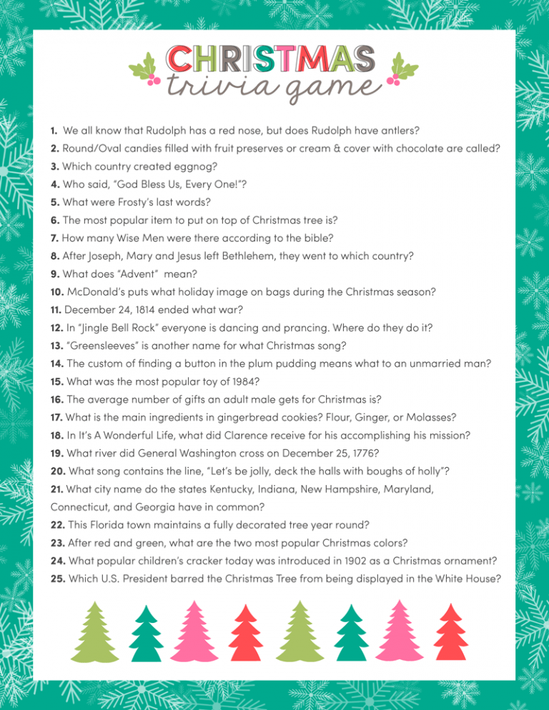 25 fun christmas games
