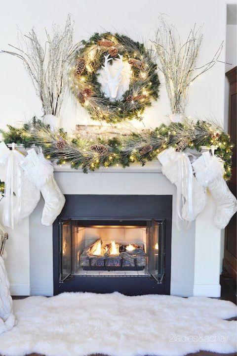 christmas mantel decorations cozy