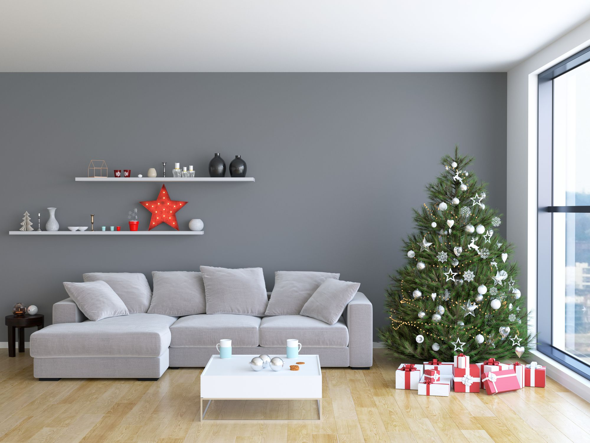 christmas decoration ideas for small living room duck egg blue and brown 9 wall decorating elegant holiday fun to dress up your walls this