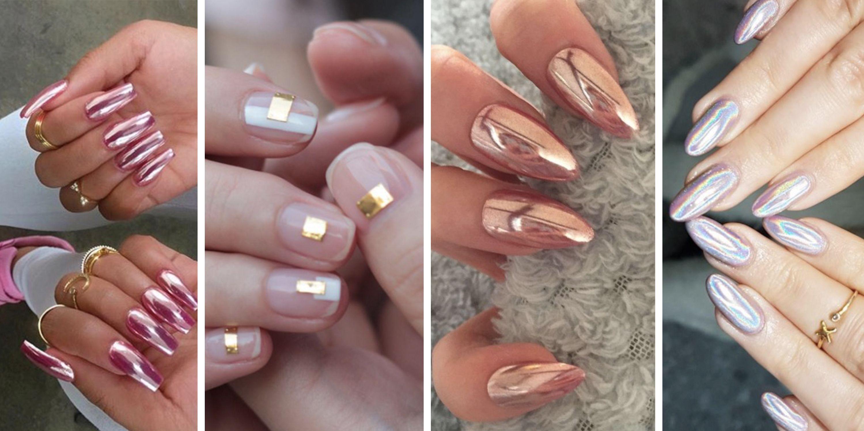 chrome nails - mirror nail