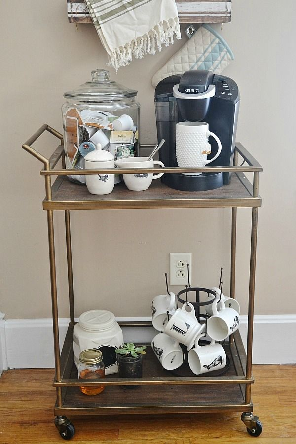 Coffee Bar Ideas - Bar Cart