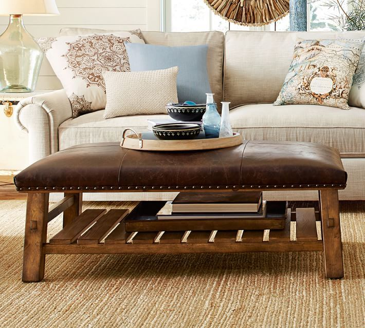these coffee table ottomans will upgrade your living room