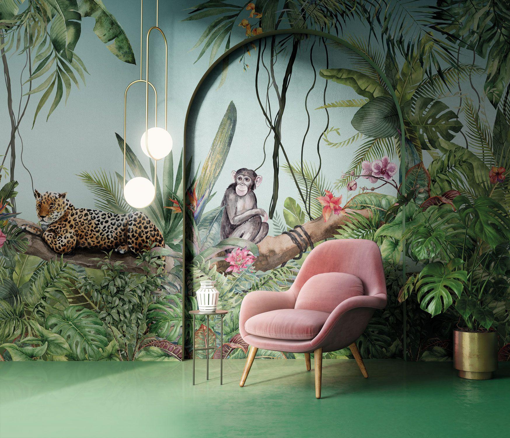 Dai un'occhiata ai nostri mobili e oggetti. Jungle Style Wallpaper By Inkiostro Bianco