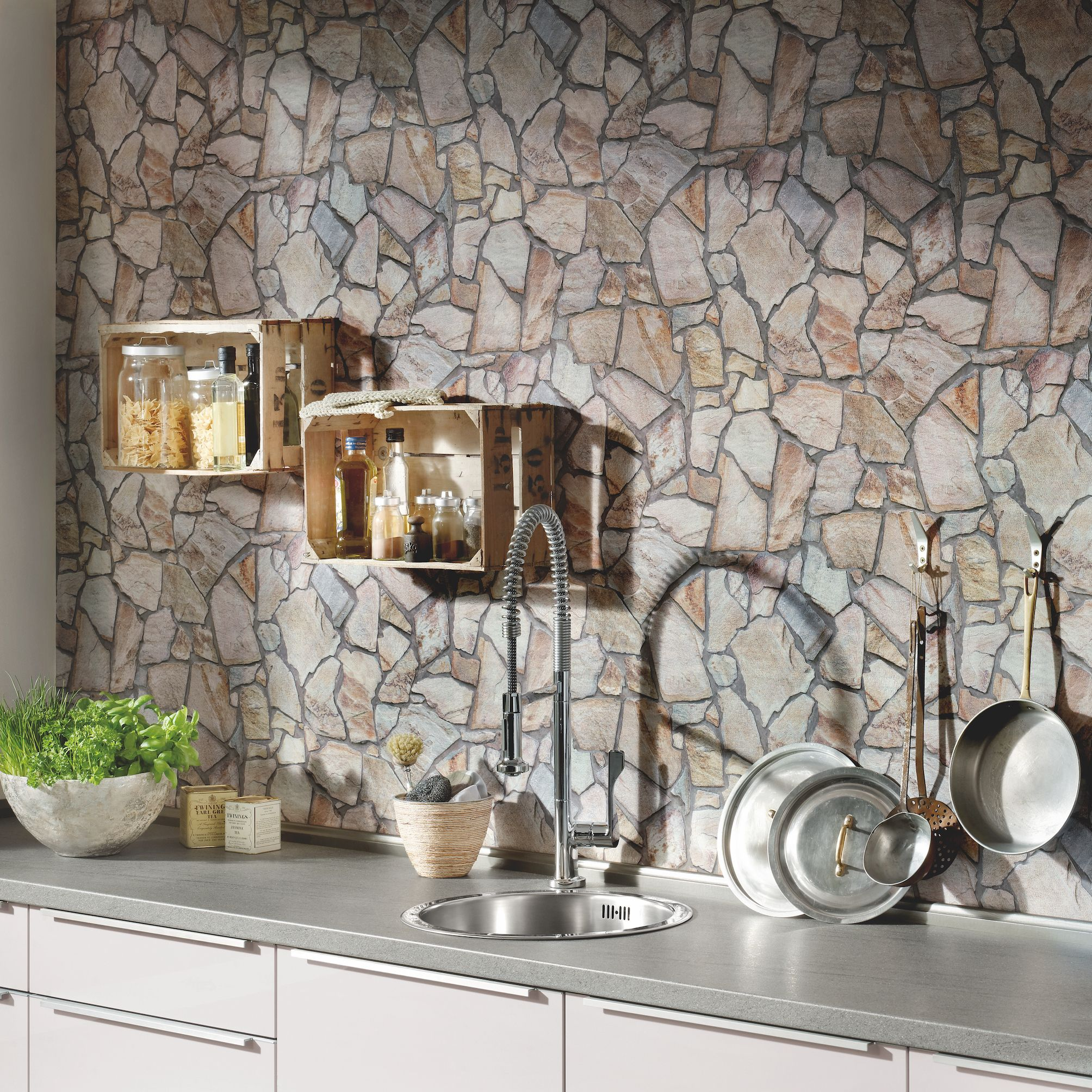 Benefits Of Using Wallpaper In The Kitchen Kitchen Wallpaper Ideas