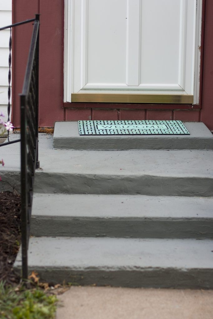 20 Diy Front Step Ideas Creative Ideas For Front Entry Steps | Outdoor Carpet For Steps | Front Entrance | Marine | Navy Pattern | Rubber | Diy