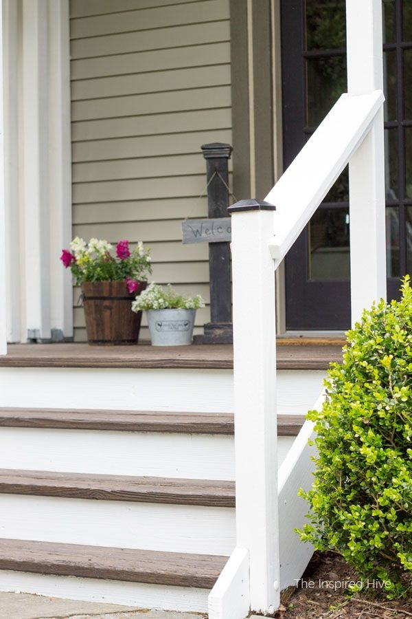 20 Diy Front Step Ideas Creative Ideas For Front Entry Steps | Railing For Concrete Steps | Stairwell | Retaining Wall | Concrete Slab Detail | Commercial | Safety