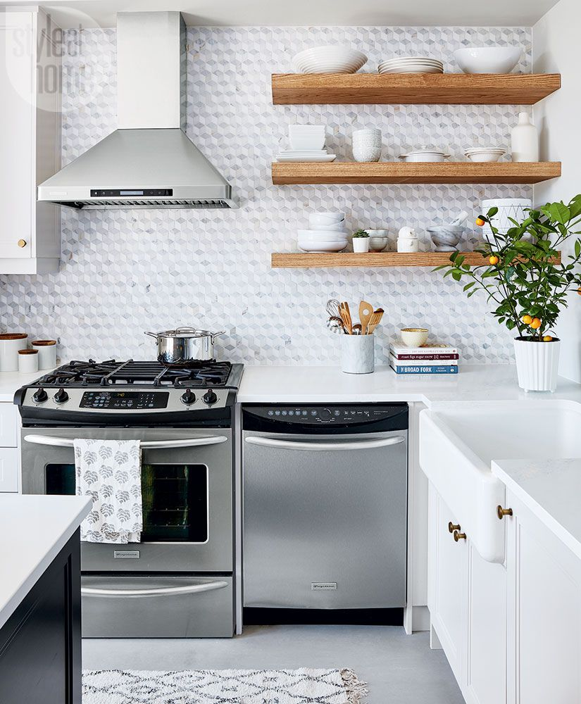 kitchen open shelves stainless steel sink reviews hate shelving these 15 kitchens might convince you otherwise image