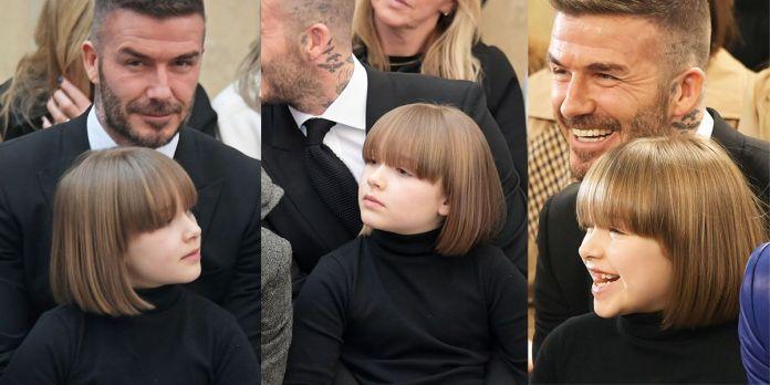 小七,Harper,哈潑,鮑伯髮,貝克漢,時裝秀維多利亞,貝克漢,Victoria Beckham, 2019 秋冬時裝秀,beauty