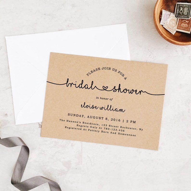 17 DIY Bridal Shower Invitations