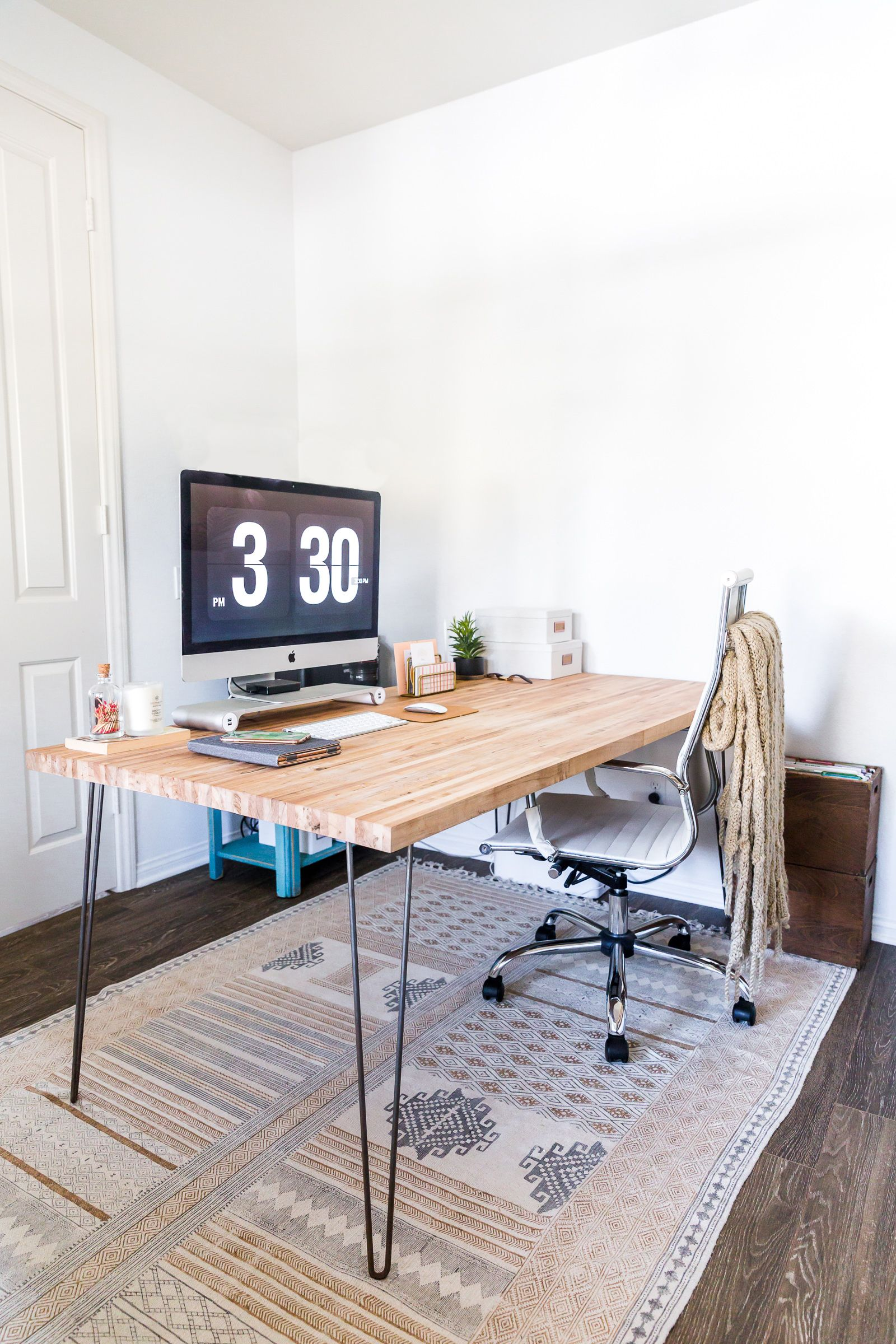 Butcher Block Desk Diy