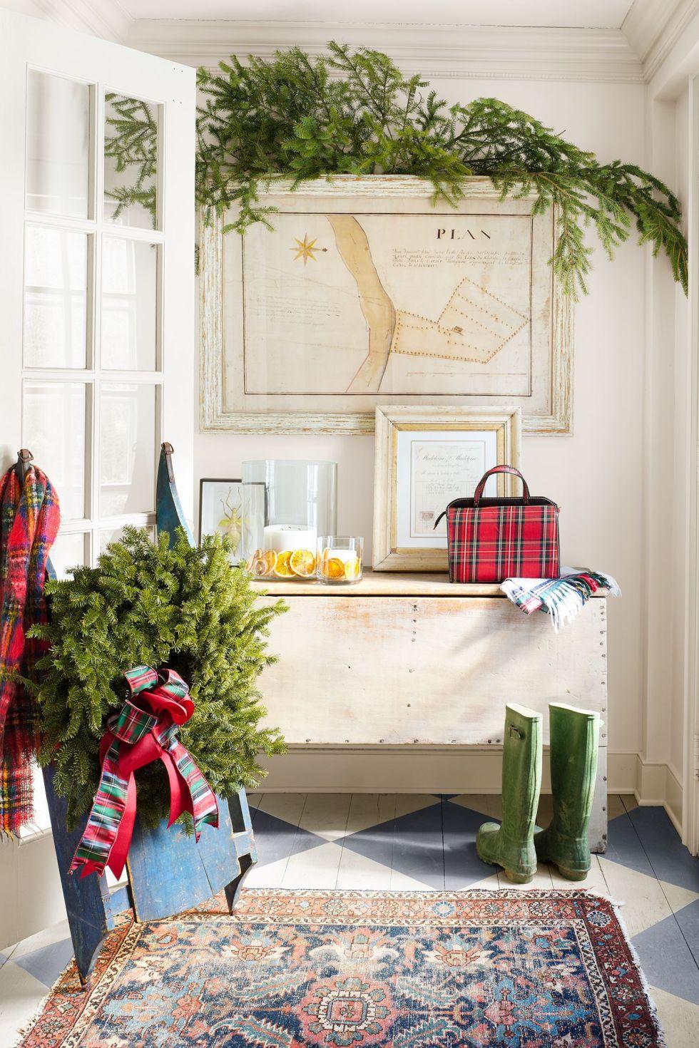 décorations de noël, vert, design d'intérieur, meubles, rouge, Accueil, propriété, maison, mur, arbre,
