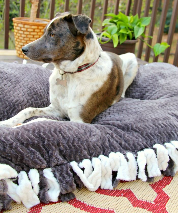 How To Make A Bolster Dog Bed