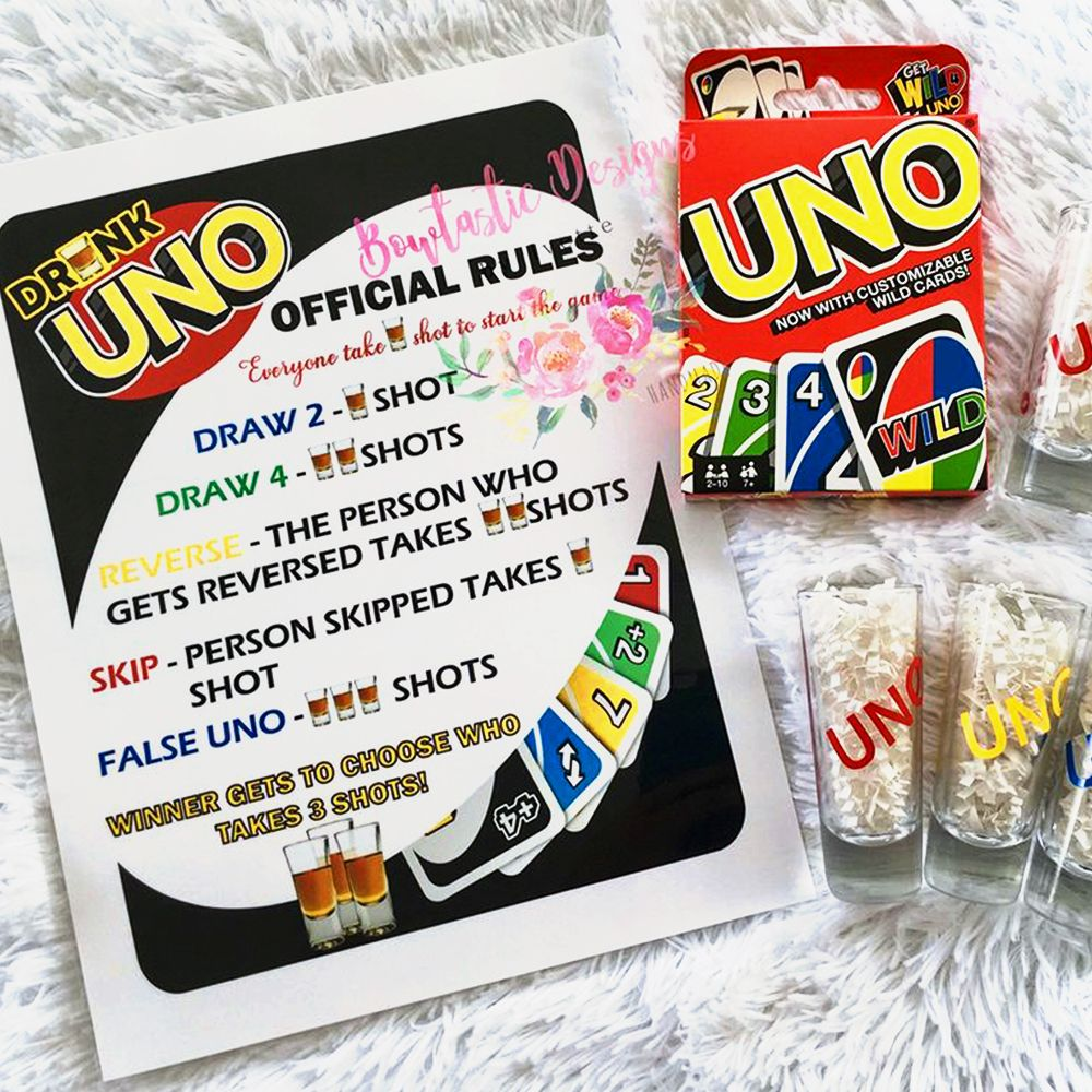 You Can Get a Drunk Version of the UNO Game. and the Rules Will Have You Taking Shots
