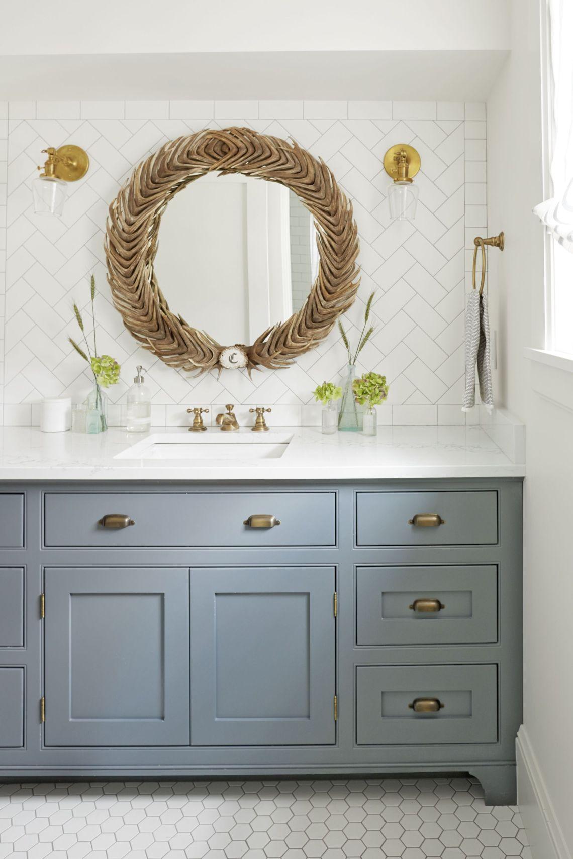 Dusty Blue Bathroom Paint Color