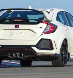 why the 2017 honda civic type r has three tailpipes [ 3000 x 1500 Pixel ]