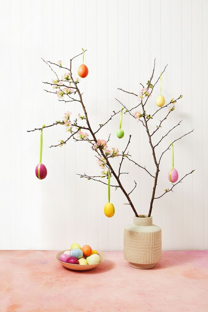 easter flowers  egg tree
