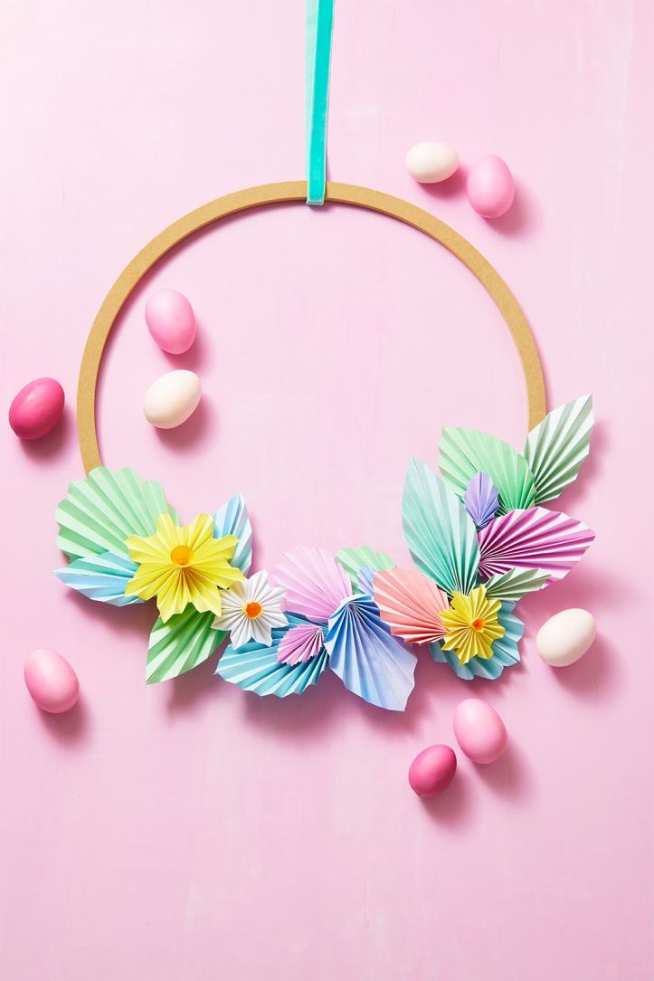 easter flowers wreath