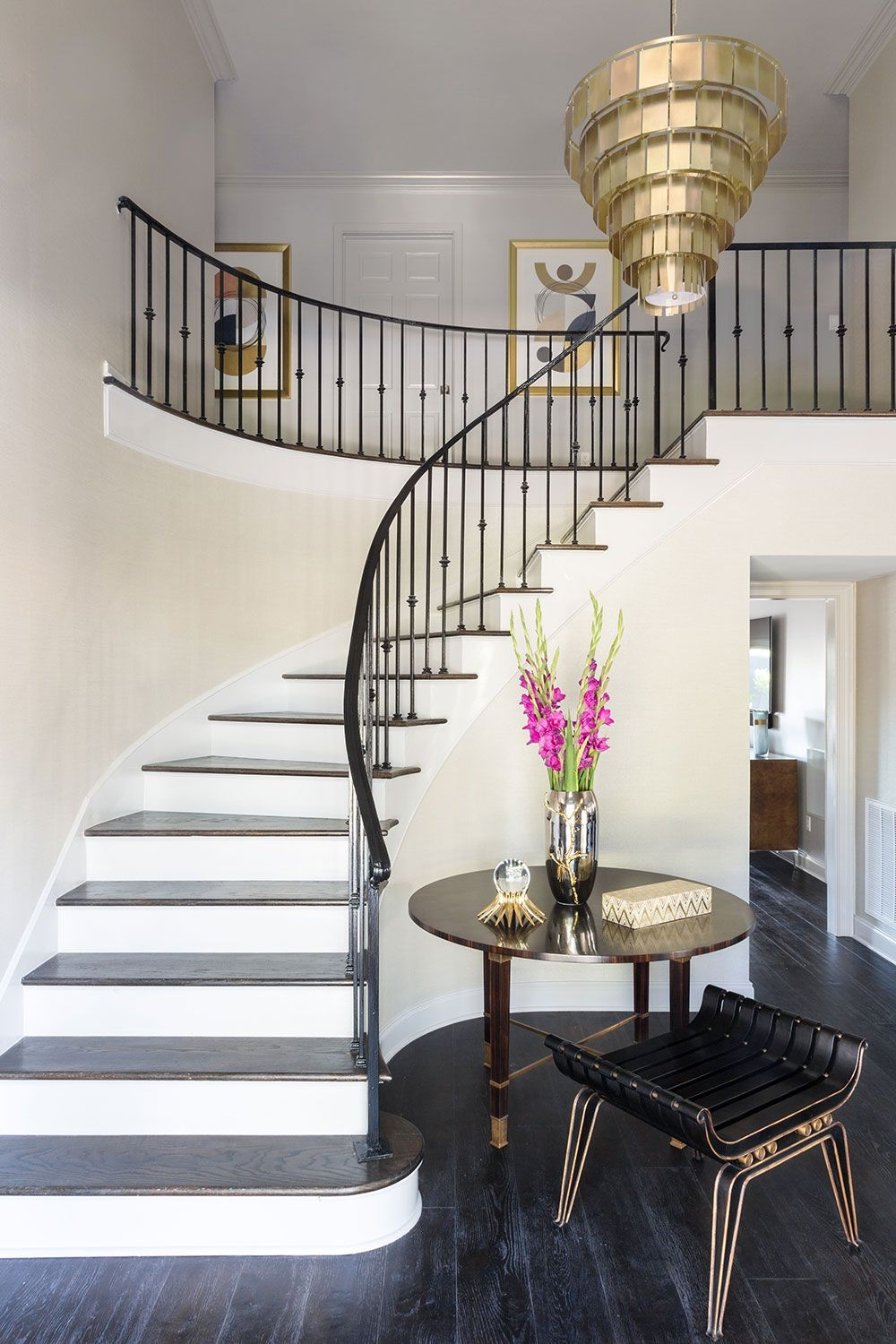 25 Pretty Painted Stair Ideas Creative Ways To Paint A Staircase   Best Stair Design For Small House   Stair Railing   Space   Space Saving Staircase   Stair Case   Loft Stairs