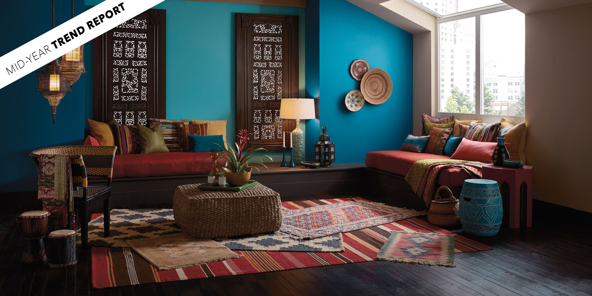 best neutral paint colors for living room sherwin williams round side tables the biggest color trends of 2017 so far - interior design ...