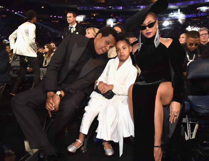 beyoncé and jay z with their daughter blue ivy