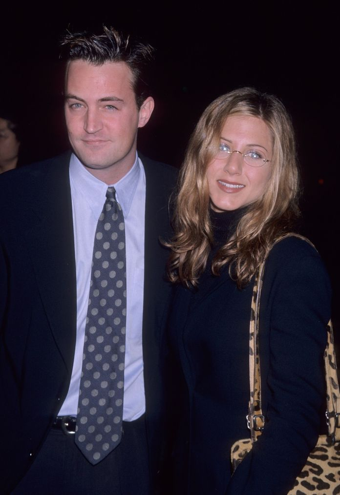 Jennifer Aniston and Matthew Perry when they were a couple