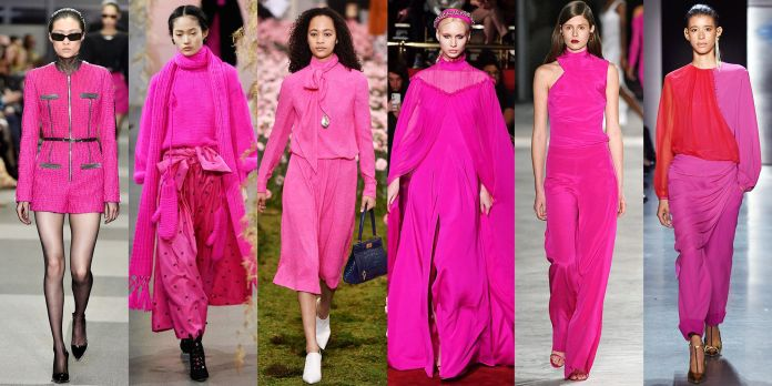 Resultado de imagen de 80´S FASHION TREND FOR FALL 2018 PINK DRESS CATWALK