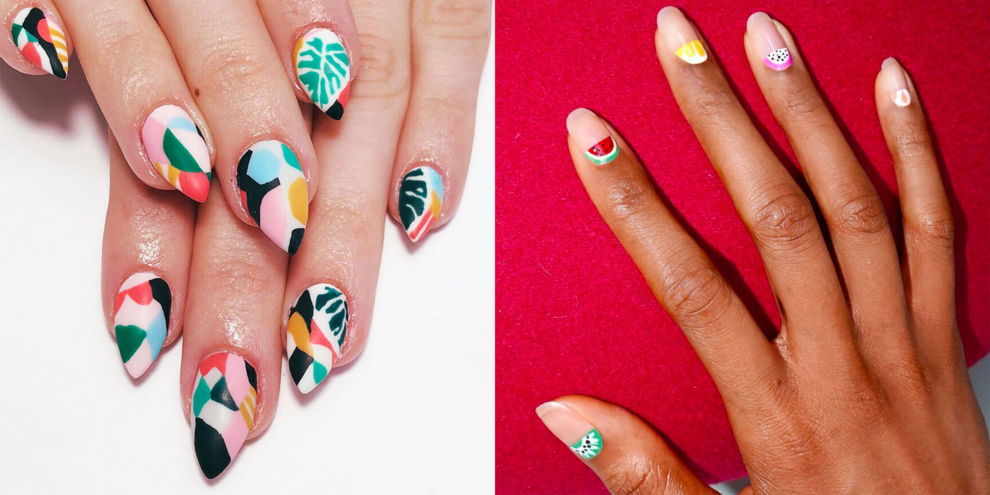 cool summer nail art design