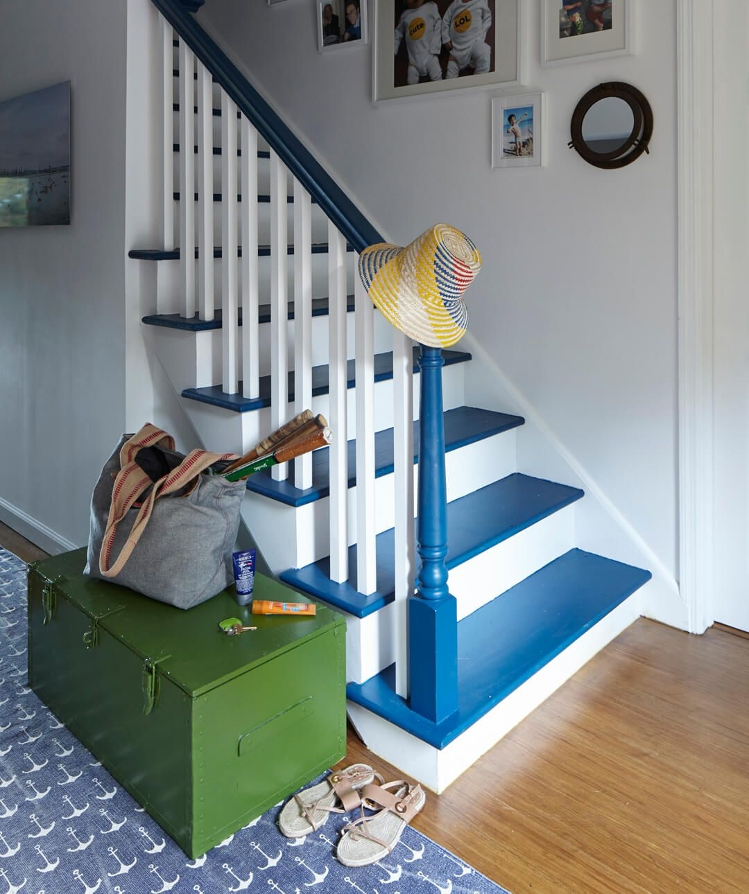 How To Paint Stairs The Right Way To Paint Stairs   Stair Wall Colour Design   Wood Wall   Before And After   Room Wall   Hall Colour Combination   Family