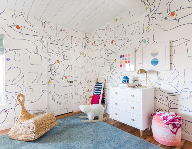 Zona infantil en la casa de Emily Henderson