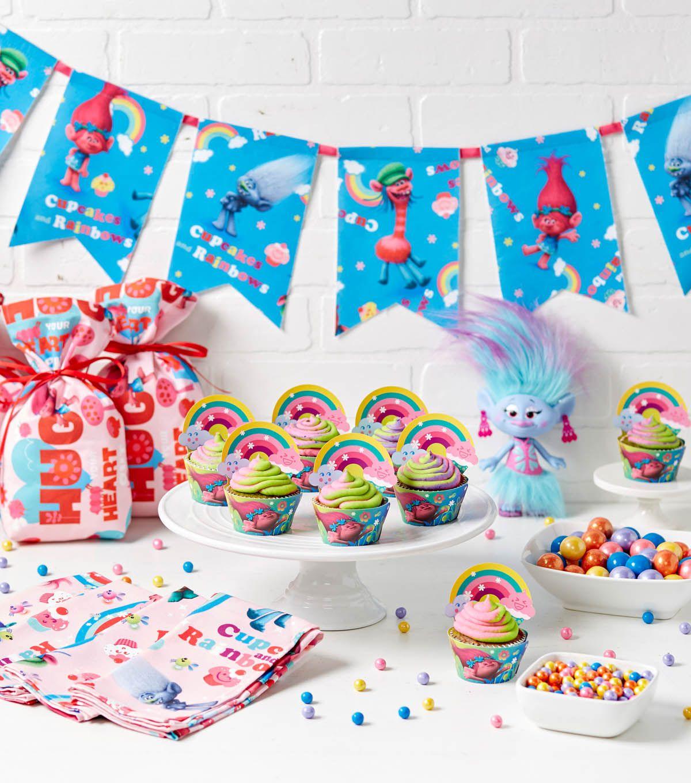 trolls themed birthday party decorations