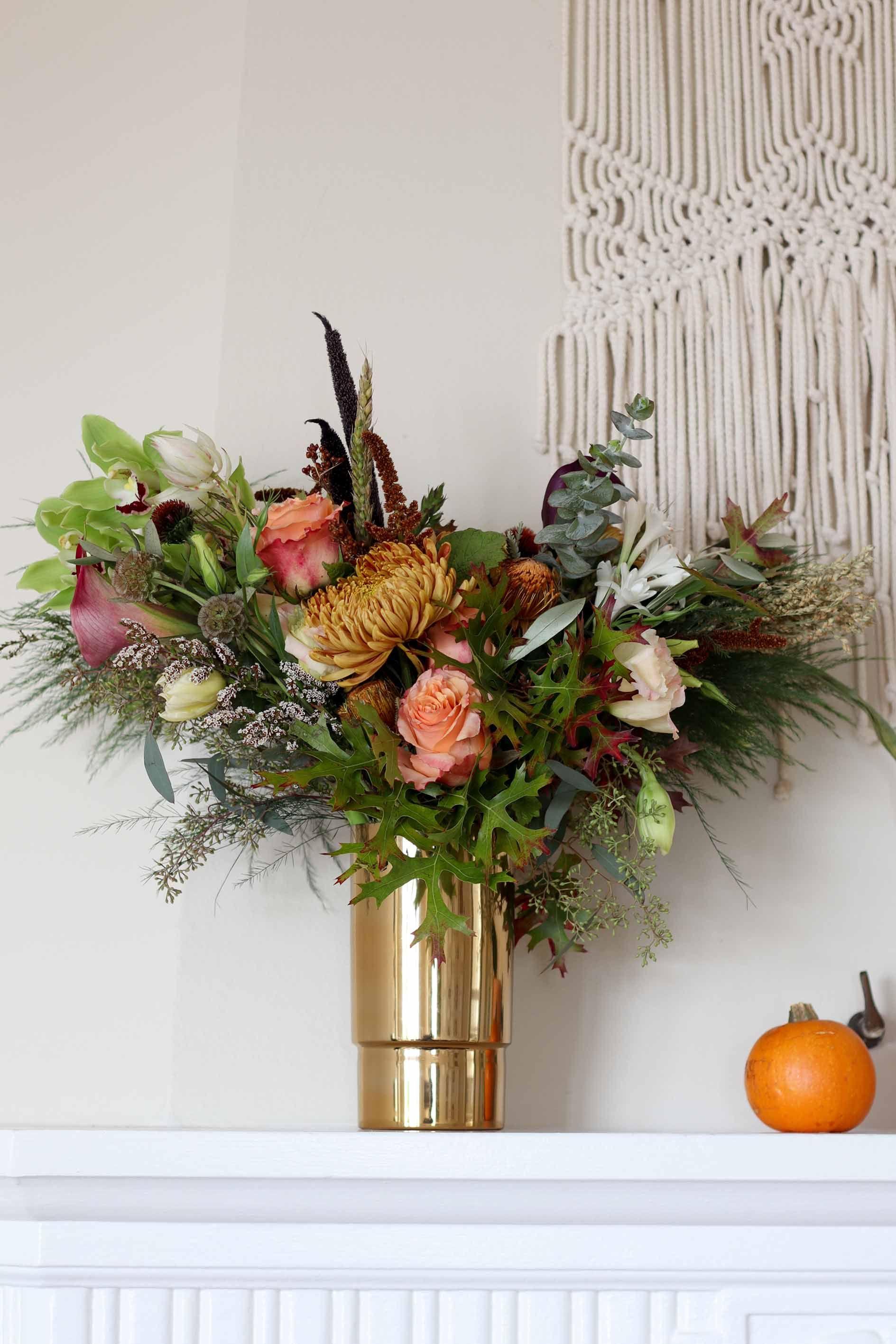 gorgeous fall floral arrangements