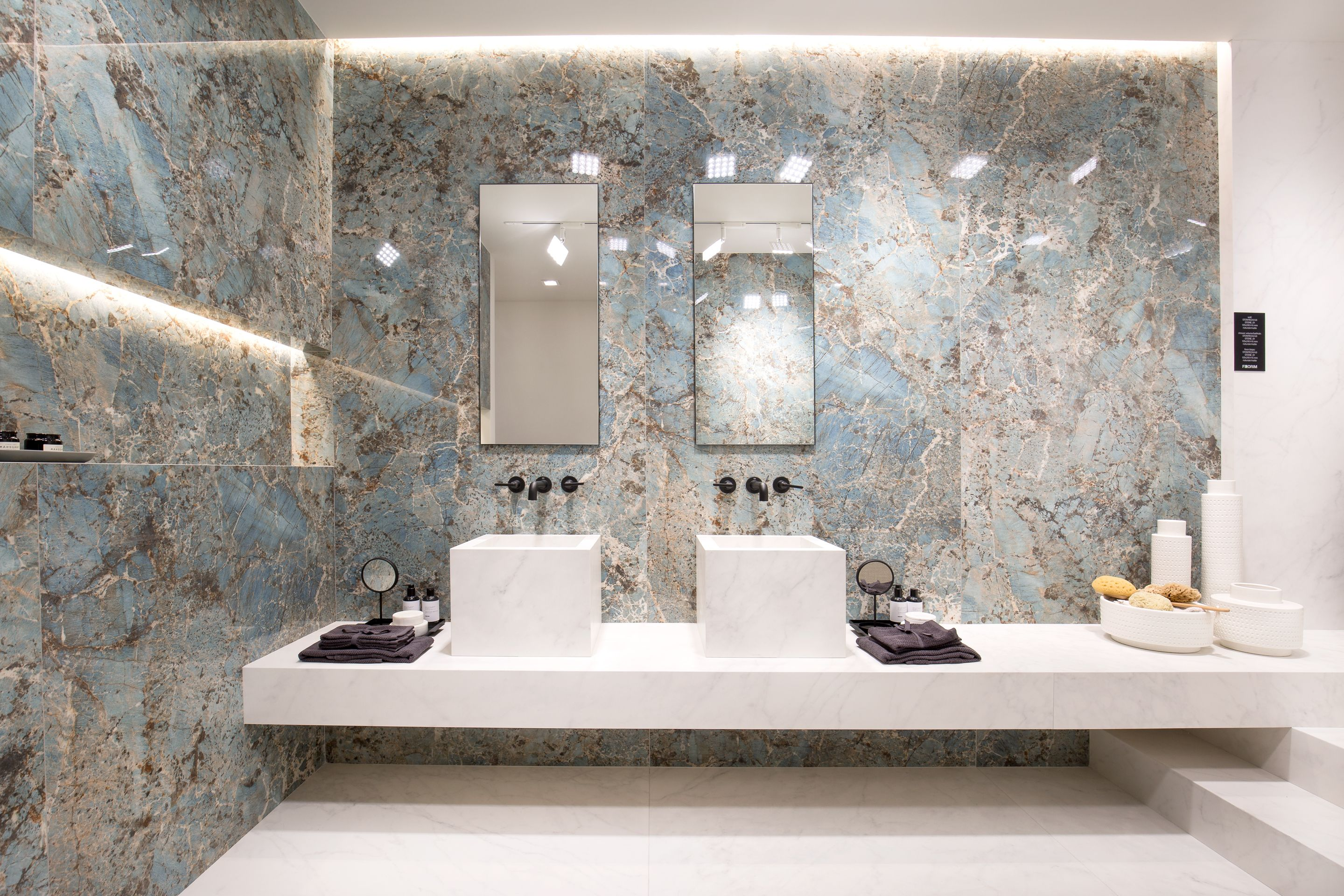 Extra large tiles and surfaces for the bathroom and beyond
