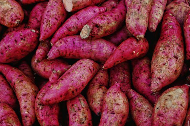 Full Frame Shot Of Sweet Potatoes For Sale