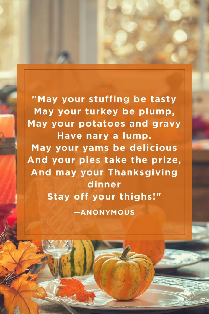 Funny Thanksgiving Quotes Poem