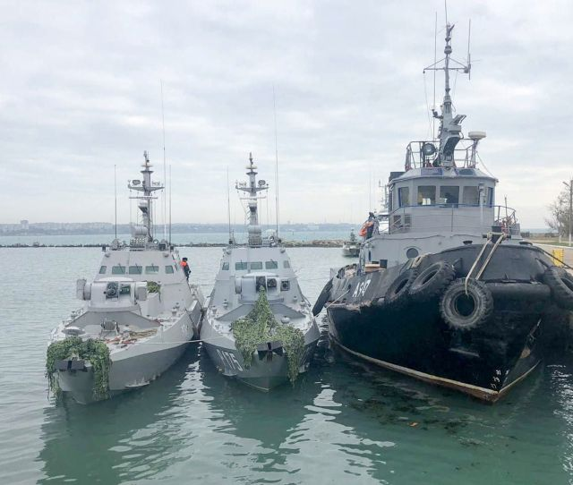 Tassgetty Images Russian Armed Forces Seized Three Ukrainian Warships In