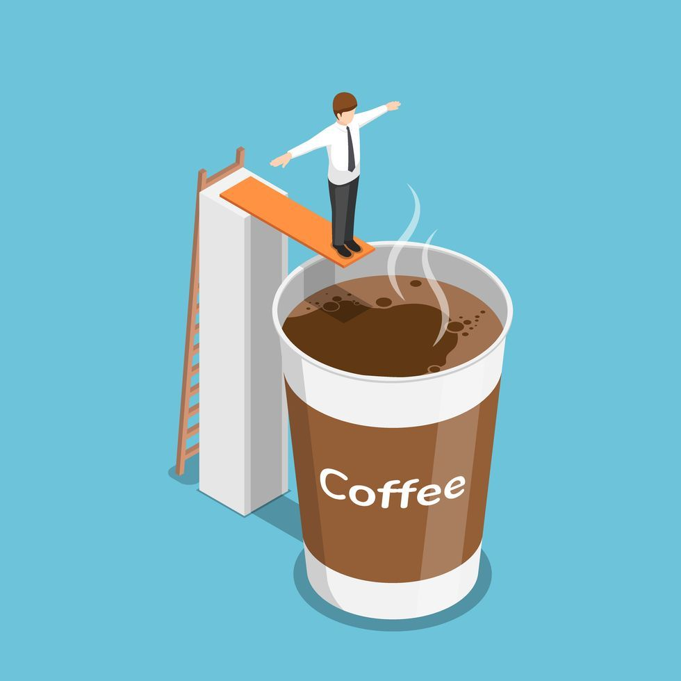 Cup, Drink, Caffeine, Coffee, Iced coffee, Coffee cup, Chocolate milk, Non-alcoholic beverage, Cortado, Poster,