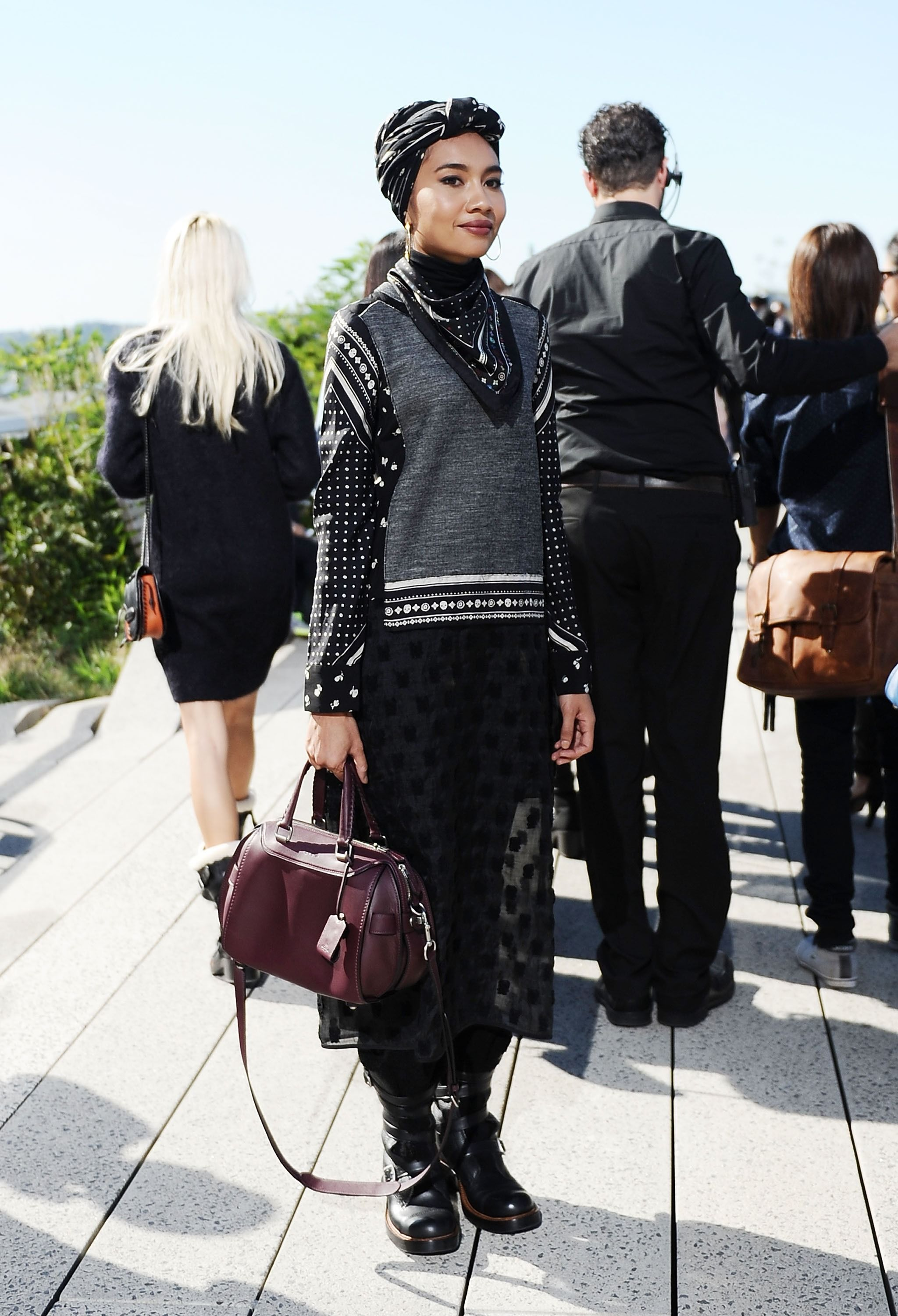 new york, ny   september 15  yuna is seen outside the coach show during new york fashion week 2016 on september 15, 2015 in new york city  photo by daniel zuchnikgetty images