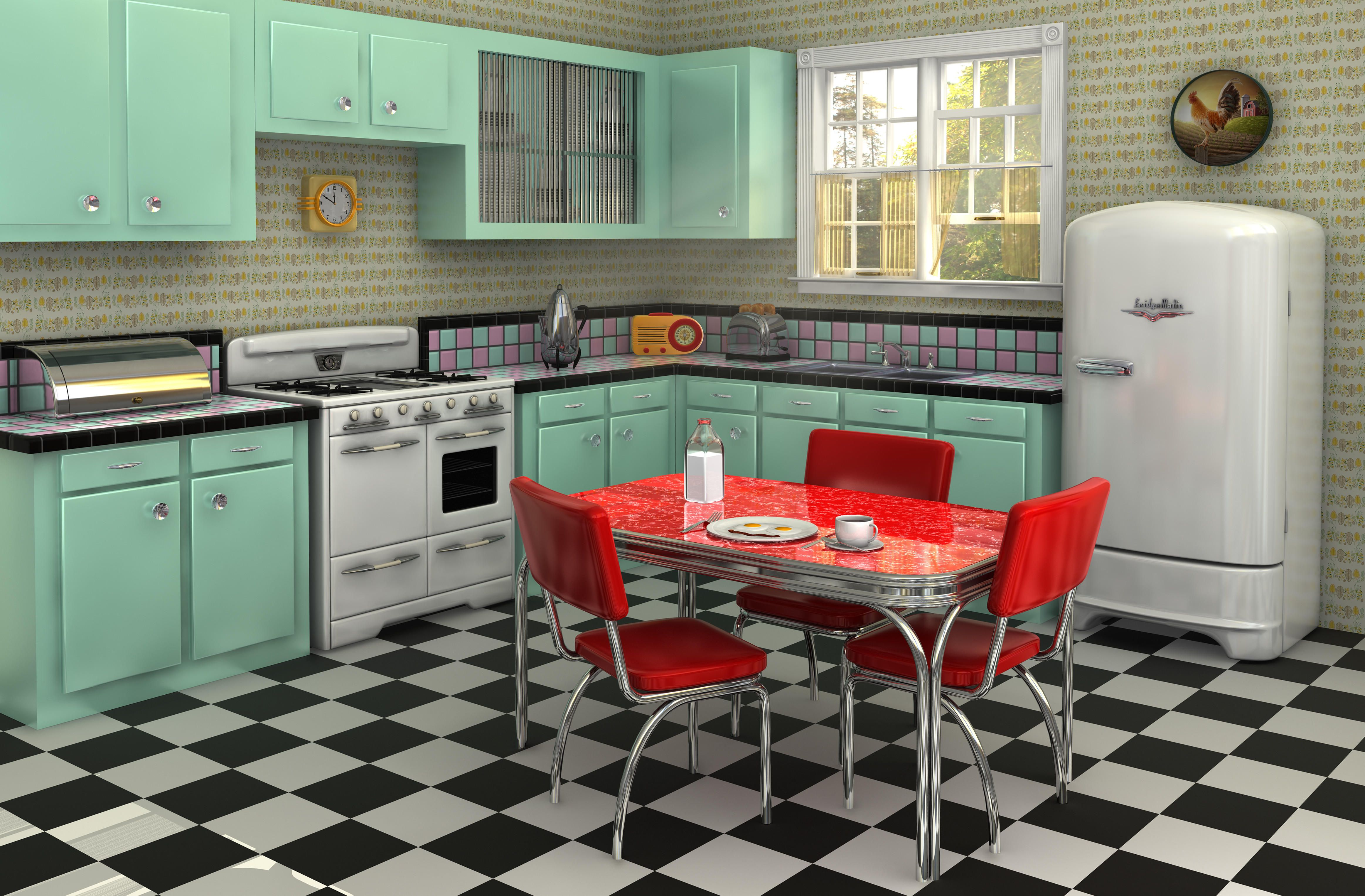 25 cool retro kitchens how to