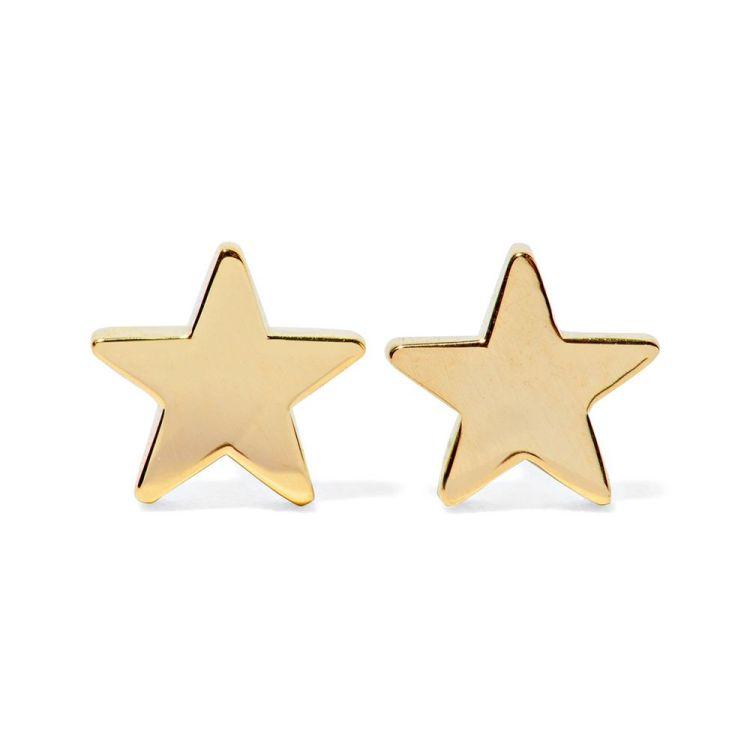 Jennifer Meyer 18-Karat Gold Star Earrings