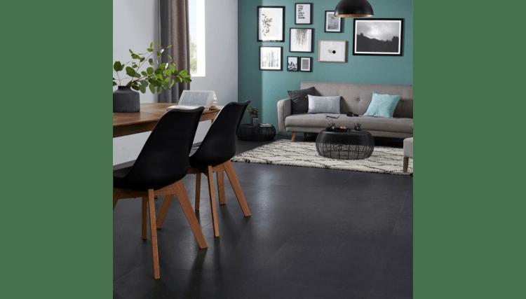 Black Floor Tiles In Living Rooms Is Newest 2020 Flooring Trend