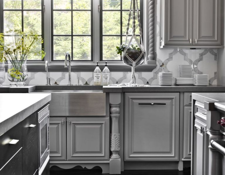 best color for gray kitchen cabinets 14 Best Grey Kitchen Cabinets - Design Ideas with Grey
