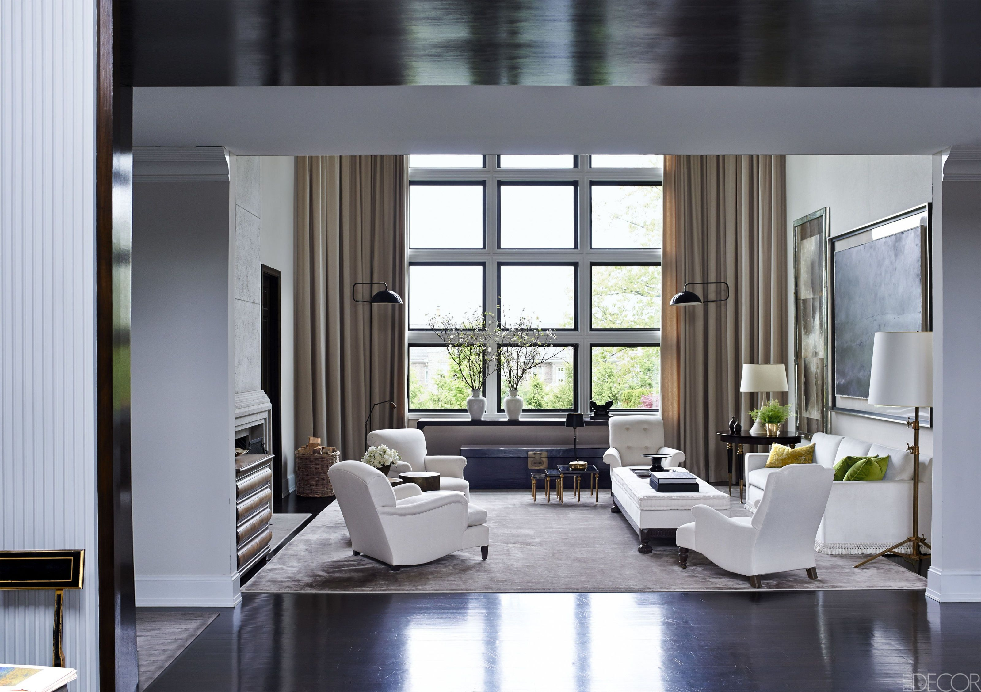 curtains in gray living room ideas with brown furniture 27 best rooms how to use paint and decor