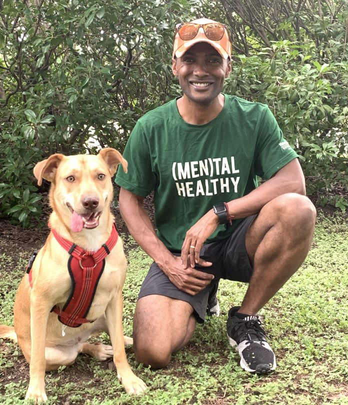 Dr. Brown And His Dog, Kai