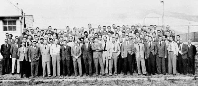 A Group of104 German Rocket Scientists at Fort Bliss