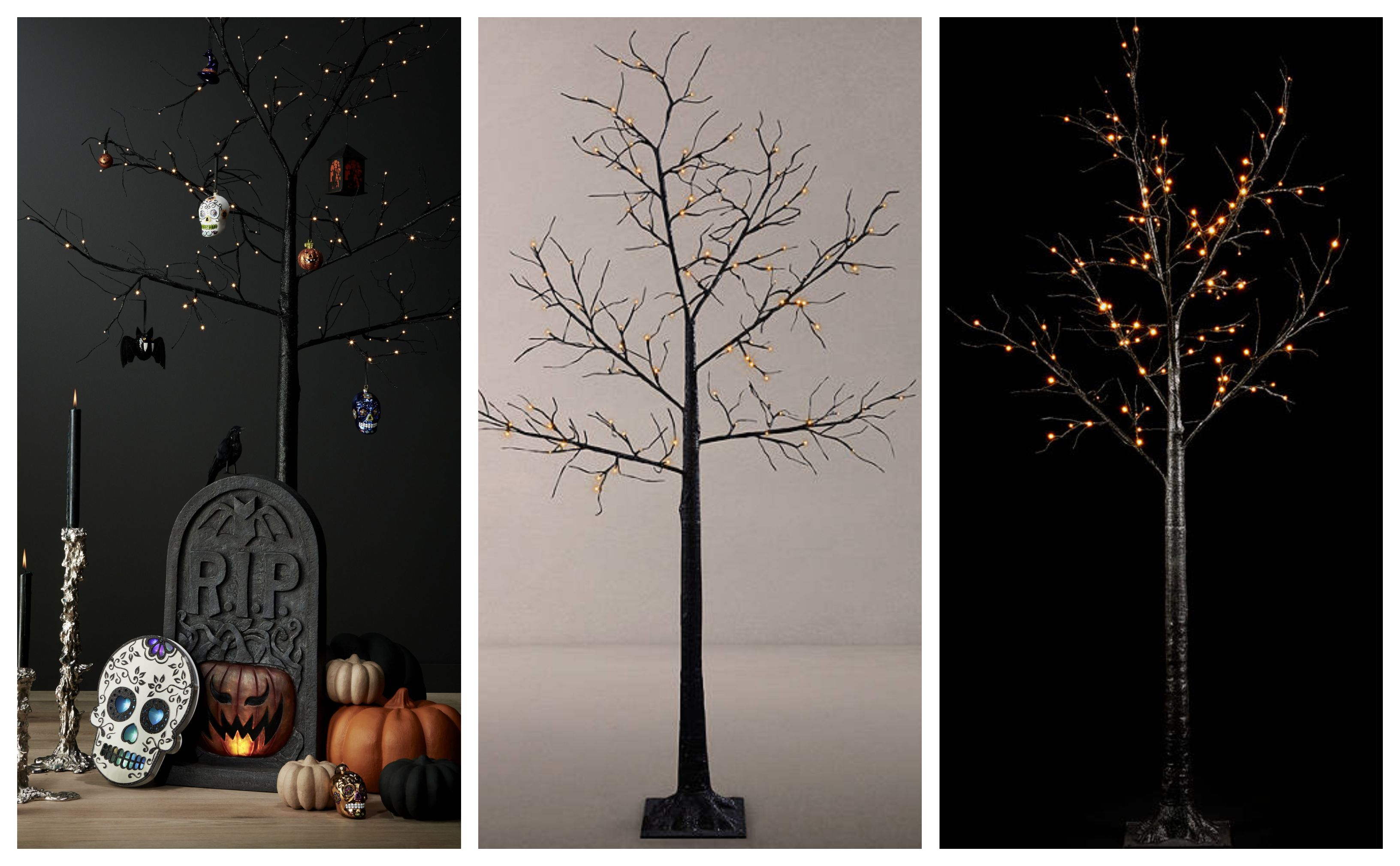 John Lewis Is Selling A Black PreLit Halloween Tree