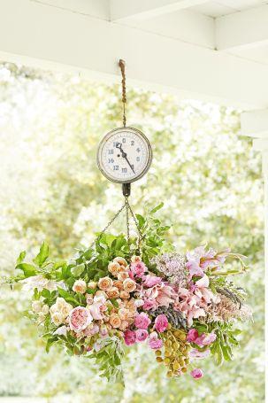 hanging scale flower vase summer diy craft