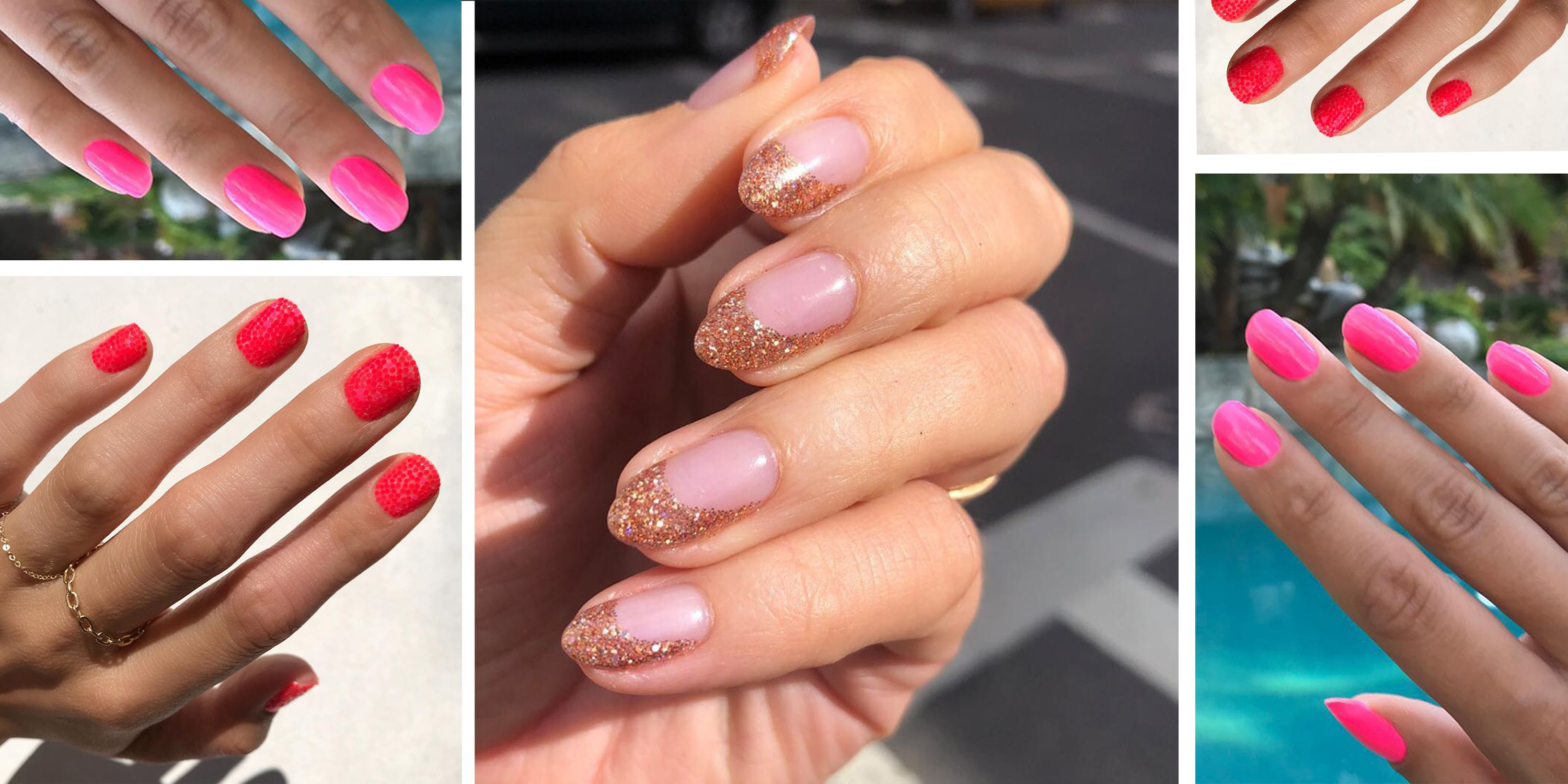 pink nail art ideas and design