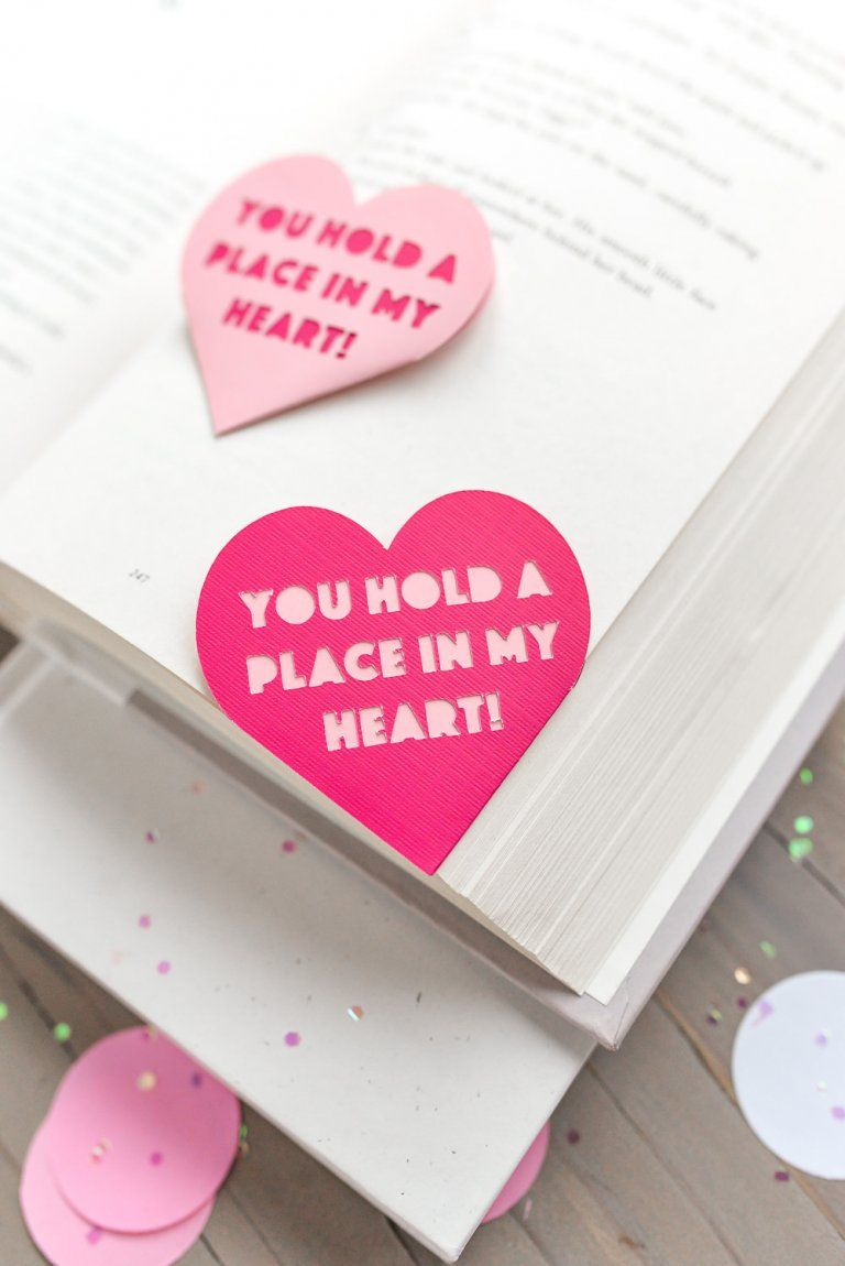 heart bookmark diy valentines day gifts